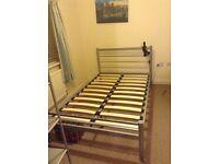 Bedroom furniture in silver grey