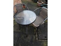 PATIO TABLE & 2 CHAIRS....6 MONTHS OLD....EXCELLENT CONDITION