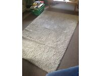 Large cream IKEA rug for sale approx 197x147cm.Excellent condition. Selling due to house move.