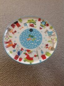 Brand new hand painted Christmas cake stand
