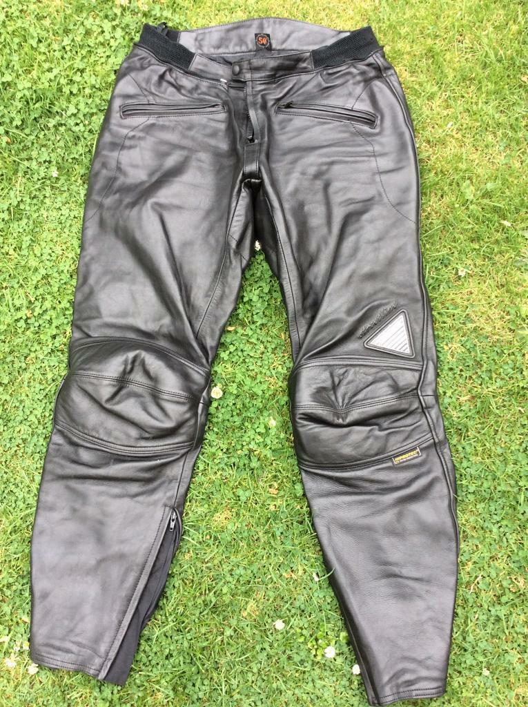 Hein Gericke streetline leather motorcycle trousers