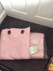 Pink blackout curtains very large bnwt