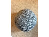 HAND KNITTED POUFFE STYLE FOOT REST