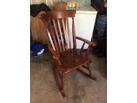 M & S wooden rocking chair
