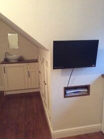 Very well equipped single room with premium Sky package