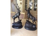 A beautiful pair of bronzes
