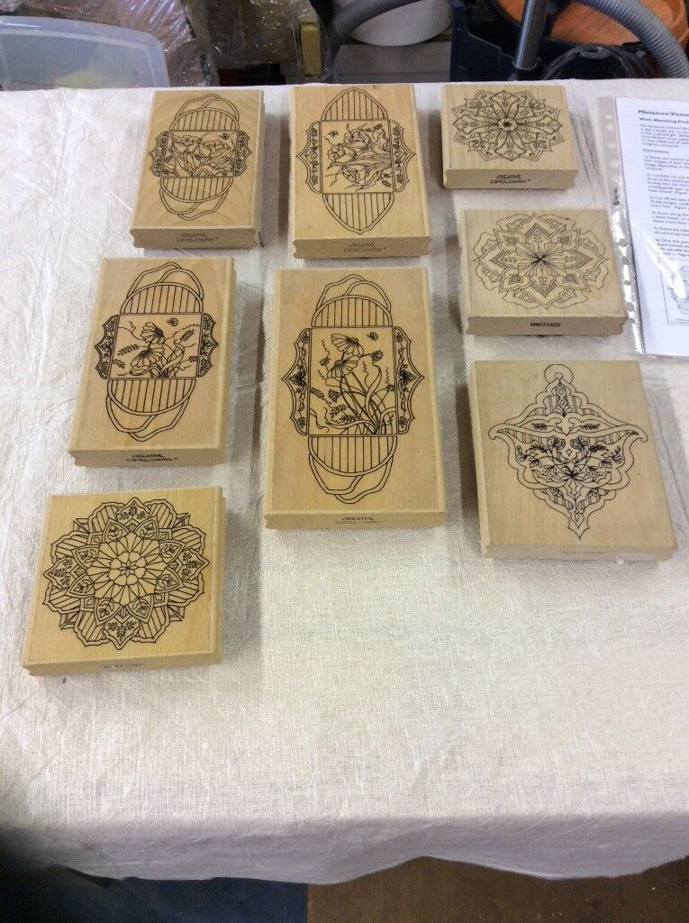 Job lot creative expressions rubber stamps
