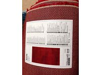 Ikea Adum red rectangular rug 133 x195 cm