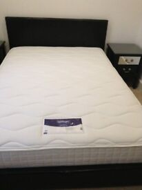 "Silent Night Mattress 4ft 6"" with FREE BASE"