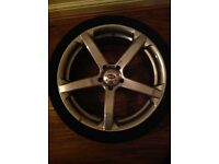 Jaguar x type set of 4 alloy wheels with tyres