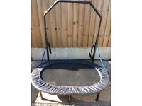 FITNESS TRAMPOLINE WITH HANDLE AND TENSION STRAPS AS GOOD AS NEW