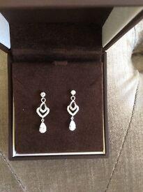 Ernest Jones white gold earrings. Brand new