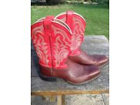 Tony Lama men's western cowboy boots UK 9 1/2 9.5