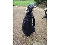 Full set of Hogan golf clubs with bag