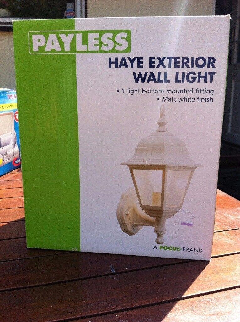 2 x Exterior wall light new boxed (will split)