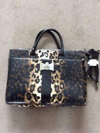 Handbag by LYDC , large animal print bag with shoulder strap option £5 .............................