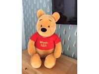 FREE Winnie the poo giant 2ft cuddly bear- Free to good home