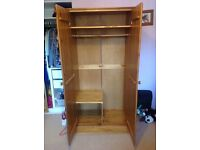 Pine wardrobe in good condition
