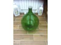 54 litres 12 gallon green glass italian carboy demijohn and plastic cover