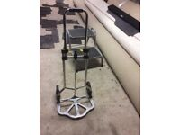 Caravan folding water trolley