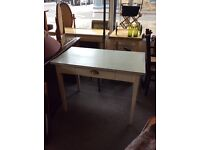 Retro kitchen table with a draw