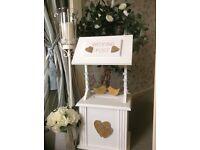 Wedding post boxes and wishing wells