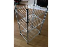 Galvanised steel shelving unit - can be used in shops or offices