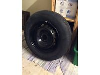 """5 x 5 stud 15"""" steel rims - one with an """"as new"""" tyre fitted"""