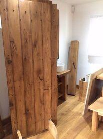 Solid Oak Ledged Doors Rustic