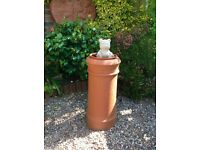 Terracotta vintage chimney pots , tall pot plus two square pots