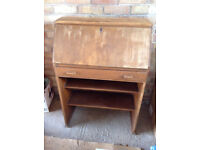 VINTAGE WOODEN BUREAU. IDEAL FURNITURE RESTORATION PROJECT