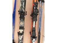 TWO PAIR OF SKIS IN GOOD CONDITION WITH BINDINGS