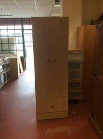 Three piece bedroom set wardrobe chest of draws bedside cabinet