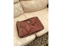 River island brown leopard print laptop case
