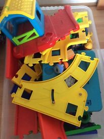 Early learning centre elc happy land track farm garage etc
