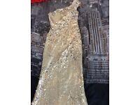Gold prom dress size 8-10