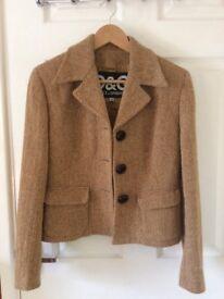 Orange Tweed vintage D&G jacket