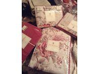 Dorma bedding and curtain set - unopened in original packaging. Bargain price.