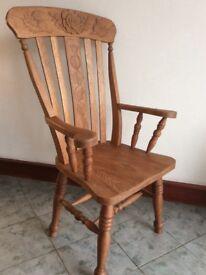 Handmade Solid Oak Chair