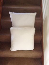 Two Lovely Unused Cream Cushions