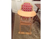 Wooden Baby Weaver High Chair great condition £60 when new