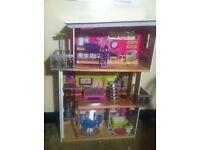ELC Dolls House 3 floored Mansion -suitable for Barbies / Monster High - furniture included !!