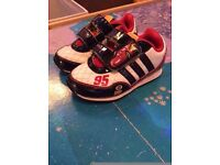 adidas disney cars trainers size 6k toddler boy