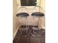 1 or 2 kitchen/bar stools. Chrome frame/black seat
