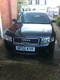 Audi A4 Black 18T petrol 2002 spares or repair
