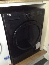 Beko black 8kg condensing dryer £225 new/graded 12 month Gtee