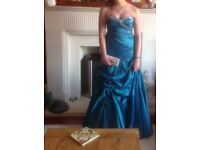Teal Prom Dress size 10 - free with donation to Alzheimer Scotland