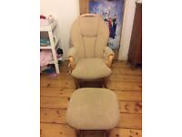 Dutailier Glider Chair and Footstool
