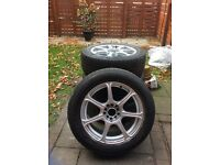 4x Wolfrace Multifit Alloy Wheels With Tyres 225/55/R17