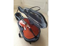 4/4 Full size Cello - Stentor Conservatoire, with hard case and two bows